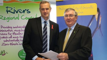 Local Government Minister Tony Simpson says the government has never funded a gift card.