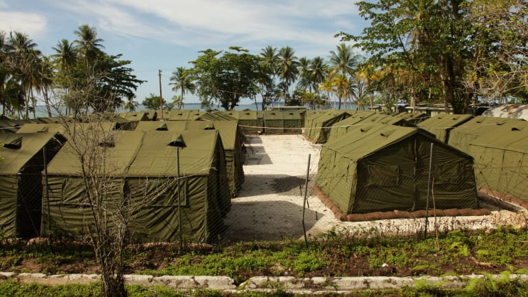 Asylum seeker facilities on Manus Island.