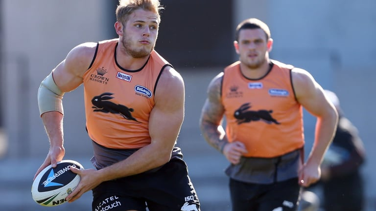 Back-yard stoush: Souths' Tom Burgess is set to come up against brother Luke, who now plays for Manly.