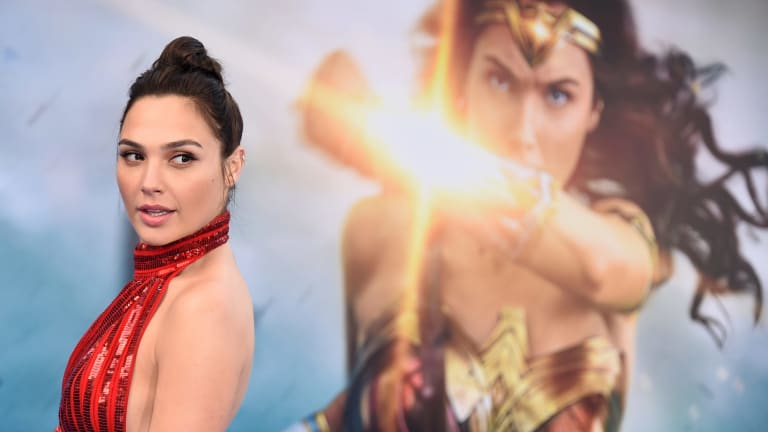 Gal Gadot arrives at the world premiere of <i>Wonder Woman</i> in Los Angeles.