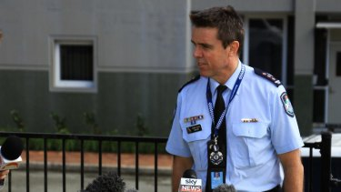 Logan Police Inspector Glenn Allen talks to media about the disappearance of a Logan schoolgirl.