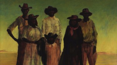 The controversy over this Russell Drysdale painting, <em>Group of Aborigines</em>, 1953, prompted a large bequest by John Cuningham to the Art Gallery of NSW.