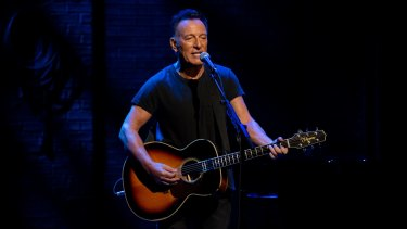 The Boss is by turns funny and self-deprecating, meditative and poetic as he tells his life story in words and song in Springsteen on Broadway.
