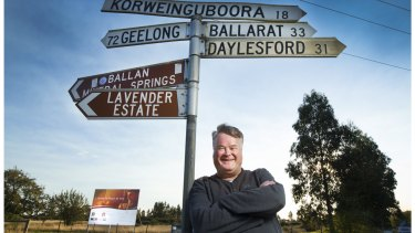 Peter Dickson at the site of the his LGBTI nursing home development, near Ballan.