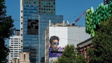 A mural of actor Ben Stiller.