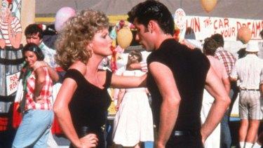 Olivia Newton-John and John Travolta in <i>Grease</I>.