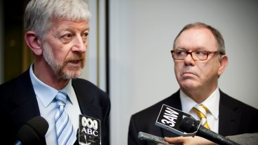 The Shop, Distributive and Allied Employees Association's then national secretary Joe de Bruyn and the ACTU's then secretary Jeff Lawrence in 2011.