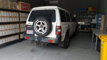 Police are appealing for anyone who saw this white 1991 Mitsubishi Pajero in Skylark Street during the past week to contact Crime Stoppers.