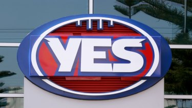 The changed logo outside AFL house.