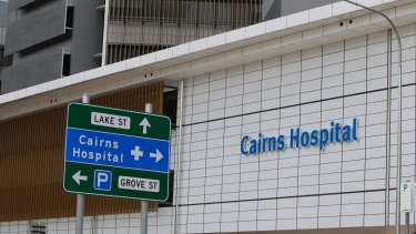 The woman was charged during a bedside hearing atr Cairns Base Hospital.