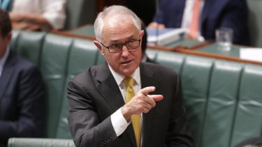 Cashed up: Prime Minister Malcolm Turnbull.
