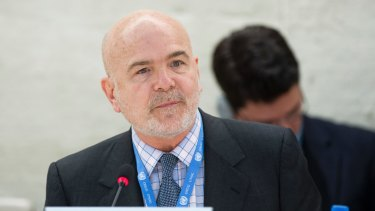 United Nations special rapporteur Michel Forst.