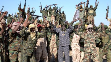 Taking on Boko Haram: Chadian soldiers near the Nigerian town of Gamboru.