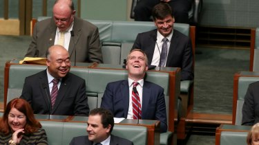 Liberal MP Tony Smith just before taking the Speaker's chair.