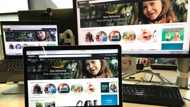 """The American Amazon site has a Christmas theme with hot Christmas deals, whereas the Australian site just has a toothless child smiling back at you,"" Mr Hall said"