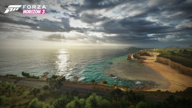 The Great Ocean Road, as seen in the game.