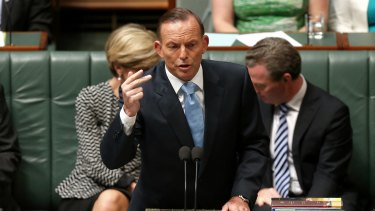 Optimistic: Tony Abbott is said to be in a positive frame of mind as the Government enters a crucial period.