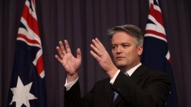 Tap dancing: Senator Mathias Cormann.