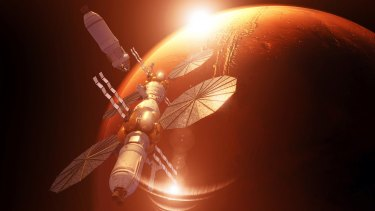 Lockheed Martin's orbiting outpost would use NASA's Orion spacecraft as a command deck.