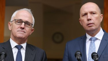 Not an admission of liability: Prime Minister Malcolm Turnbull and Immigration Minister Peter Dutton.