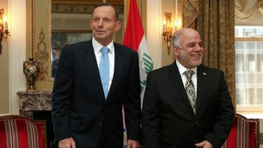 In need of friends: It remains to be seen whether Iraqi Prime Minister Haider al-Abadi, right, with Prime Minister Tony Abbott in New York in September, can reunite his country.