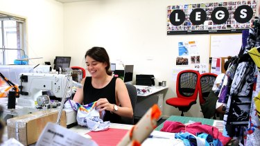 Sewing staff at work at Black Milk's head office, where all the clothing is designed and made.