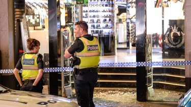 Smash and grab raid on Culture Kings in Queen Street in March.