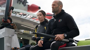 Li Bingbing, seen here with Jason Statham, is a key element in pitching <i>The Meg</i> to a Chinese audience.