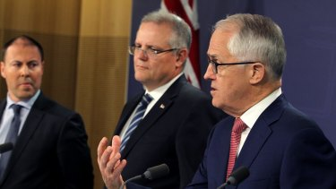 Prime Minister Malcolm Turnbull, Treasurer Scott Morrison and Energy Minister Josh Frydenberg emphasised the need for gas development at a media conference on Monday.
