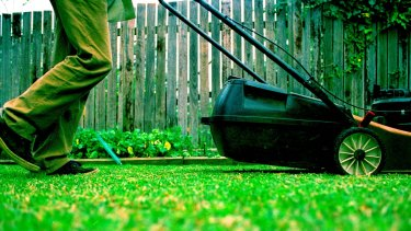 Male tasks can be outsourced just as much, if not more than female tasks. The use of lawnmowers is actually more common than cleaners.