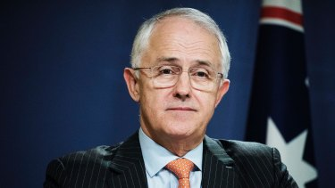 Hung up on: Prime Minister Malcolm Turnbull.