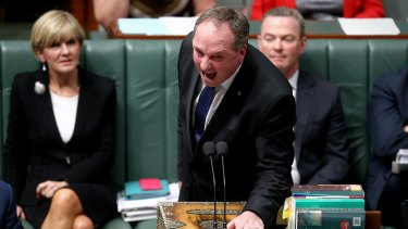 Barnaby Joyce launches his attack on the ''mud-sucking creatures''.