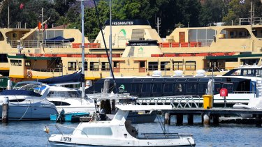The Lady Northcott ferry docked in Balmain shipyard after its final voyage on Tuesday before being decommissioned.
