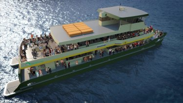 An artist's impression of one of the six new inner-city ferries.