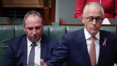 Deputy Prime Minister and Minister for Infrastructure and Transport Barnaby Joyce and Prime Minister Malcolm Turnbull.