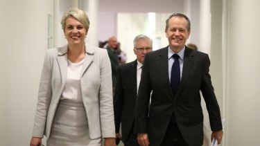 Labor's Tanya Plibersek and Bill Shorten.