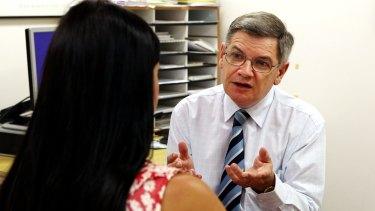 Former senior oncologist John Kearsley in 2012.