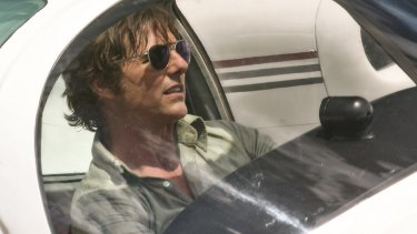 Tom Cruise as pilot Barry Seal in American Made.