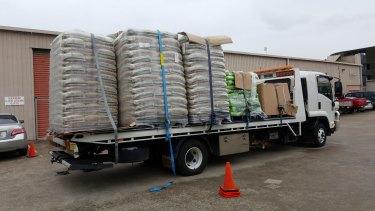 Fertiliser seized from the Acacia Ridge warehouse.