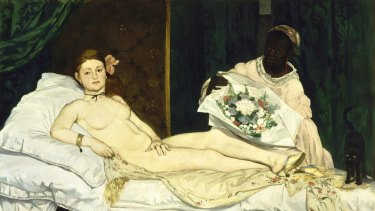 Sophia Hewson compares her work to Manet's Olympia.