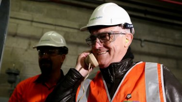 Prime Minister Malcolm Turnbull touring the Snowy Hydro power station earlier this year.