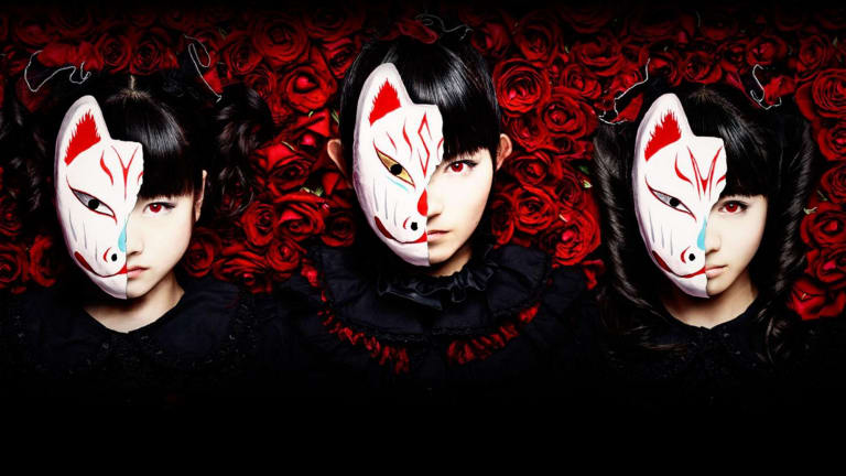 The iron maidens of Babymetal (left to right)  Yuimetal, Su-metal and Moametal.