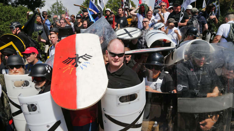 Rebel Media was criticised for its coverage to the deadly Charlottesville demonstrations in August.