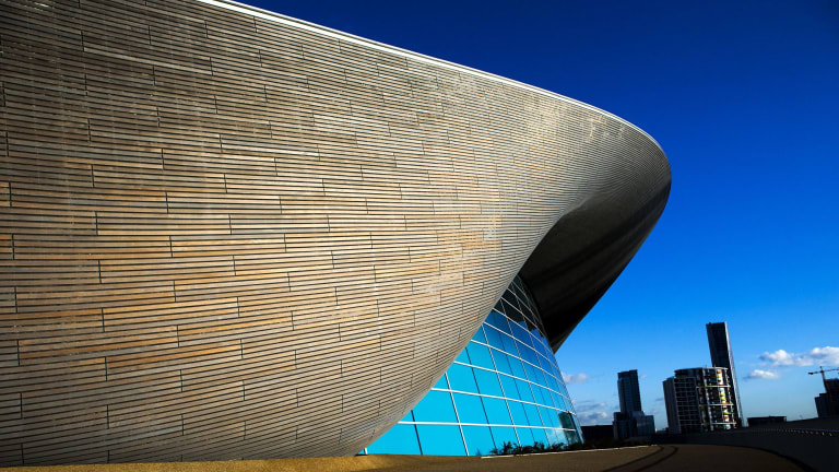Hadid designed the London Aquatics Centre built for the 2012 Olympic Games.