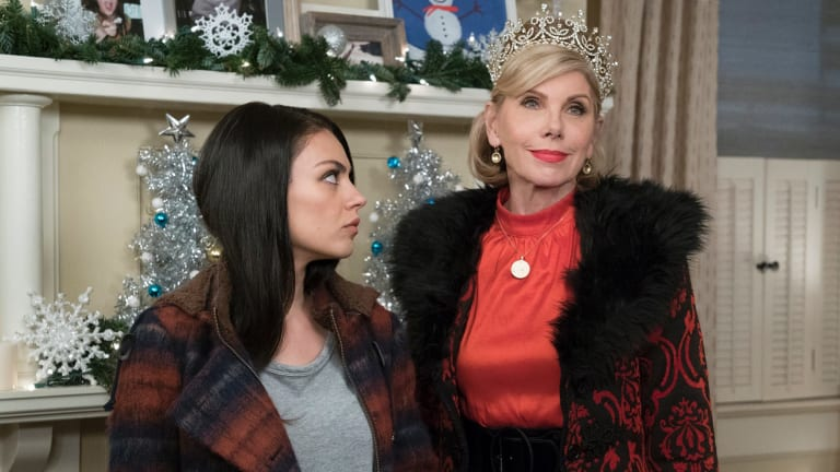 The bad moms' moms, including Christine Baranski, right, are the highlight.
