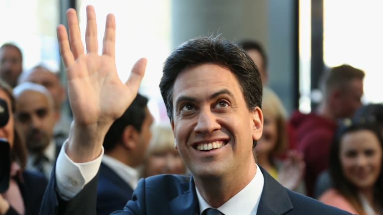 Labour Party leader Ed Miliband on the campaign trail in England.