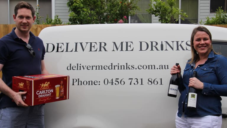 Charles and Anita Perrottet from Melbourne aim to cut delivery times from 45 to 30 minutes.