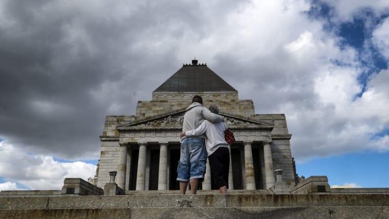Melbourne's Shrine of Remembrance.