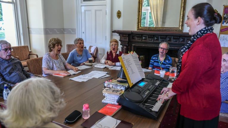 The neurological choir not only improves the patients' impairment but gives them a social life.