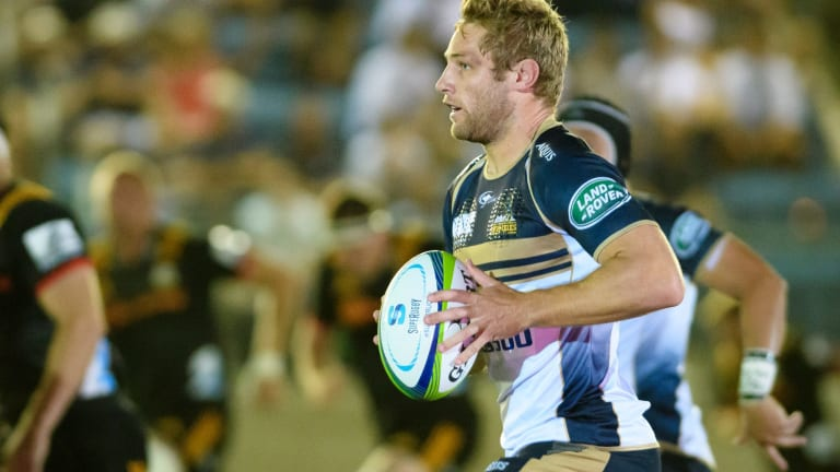 Brumbies inside-centre Kyle Godwin produced a couple of nice steps, including for one try.